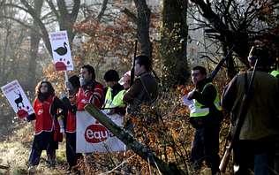 Incidentes entre cazadores de zorros  y ecologistas acaban con un detenido