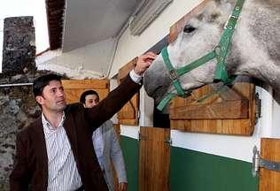 El centro O Ventoso abre el mundo del caballo a los vecinos de Berganti�os