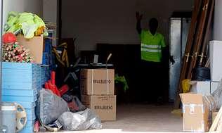 La UTE Zapateira utiliza dos chal�s de Fontemaior como oficinas y almac�n