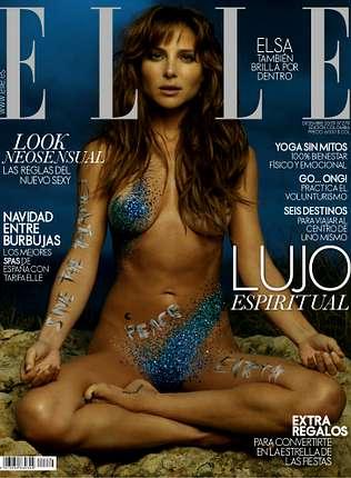 Elsa Pataky se viste de Swarovski en un posado para la revista �Elle�