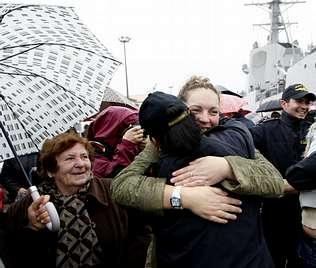 La fragata F-104 retorna a Ferrol tras ofrecer escolta al �Alakrana�