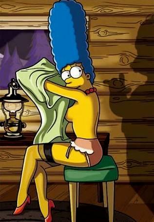 Marge Simpson se desnuda en televisi�n