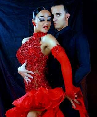 Manuel Trillo y su pareja de baile lograron el tercer puesto el fin de semana en el festival de Platja d'Aro