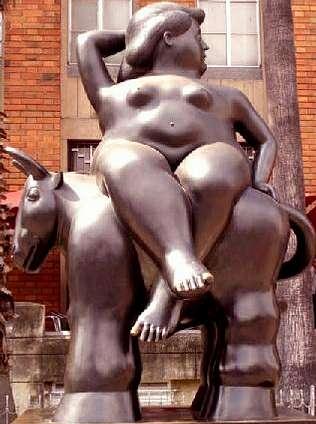 Hoy llega a la  R�a do Vilar �El rapto de Europa�, de Fernando Botero