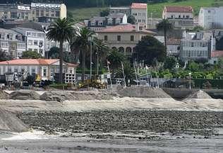 Comienzan las obras para dotar a Ortigueira de una playa urbana