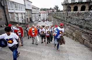 Un grupo de enfermos se rehabilita con el Camino