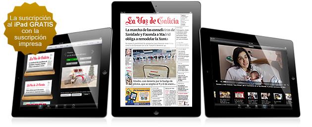 La Voz de Galicia en la versión digital en PDF de su aplicación para iPad