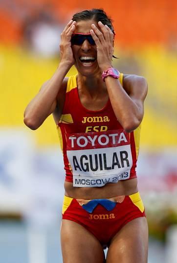 Alessandra Aguilar quinta en la maratón de los Mundiales de Moscú 2013