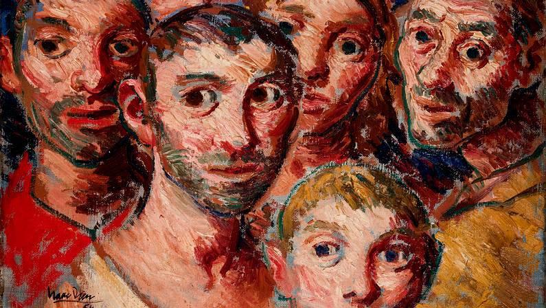 Un dos cadros de Isaac Díaz Pardo