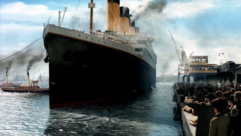 Fotograma de la película «Titanic» en su versión 3D