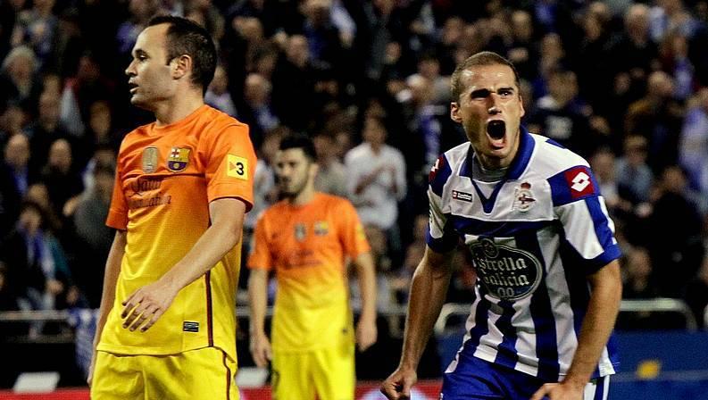 Álex Bergantiños festeja su gol CESAR QUIAN