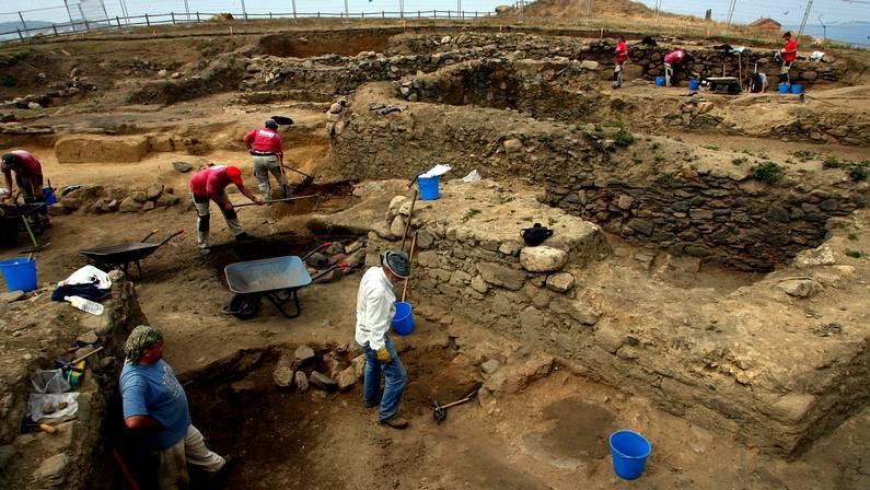 Excavaciones en el yacimiento de A Lanzada RAMON LEIRO