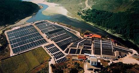 Las instalaciones que Tres Mares posee en Lires ocupan 97.000 metros cuadrados y en ellas trabajan 70 empleados.