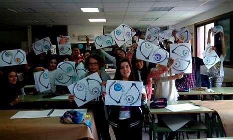 Grupo de alumnos del IES As Barxas que participarán en la puesta en marcha del proyecto ganador.