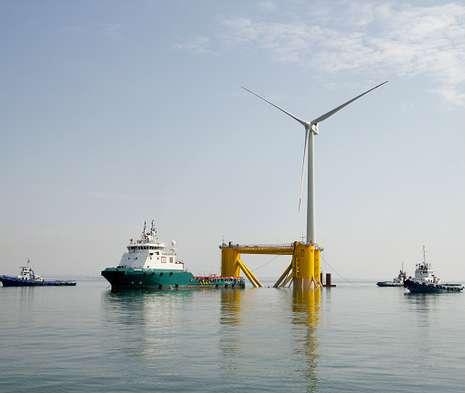 Portugal produce energía eólica en el mar a solo 60 kilómetros de Galicia