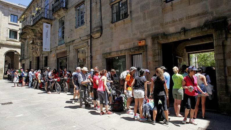 Un Camino de récord con 32.940 peregrinos en junio
