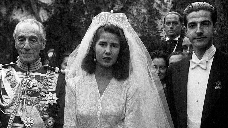 Cayetana, el día de su boda con Luis Martínez de Irujo EFE