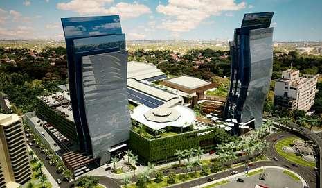 El proyecto de Asunción incluye dos torres en un complejo comercial.