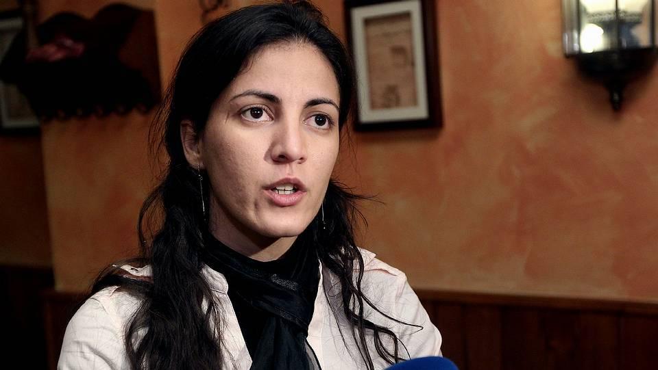 Rosa María Payá habla con los medios en Madrid. Zipi | Efe