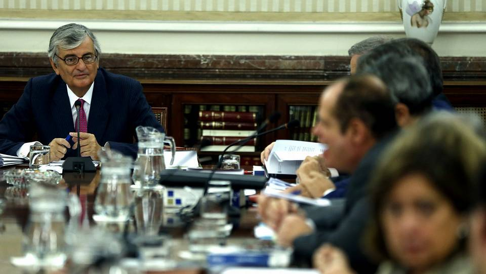 El fiscal general del Estado, Eduardo Torres-Dulce, al inicio de la reunión de la Junta de Fiscales de Sala, en la que se ha explicado su intención de presentar una querella por el 9-N Chema Moya | EFE