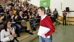Xo�n Bascuas es el secretario general de un partido que busca un lugar en el mapa pol�tico gallego FOT�GRAFO: XO�N A. SOLER