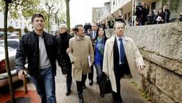 A las 13.35 horas Gerardo Conde Roa sali� de los juzgados de Fonti�as (Santiago). FOT�GRAFO: �lvaro Ballesteros