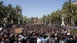 Los estudiantes protestaron sin que se produjeran incidentes FOT�GRAFO: ALEJANDRO GARC�A | EFE