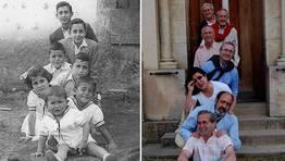 Los hermanos Taboada Gonz�lez, de Ferrol, hace 55 a�os y en la actualidad FOT�GRAFO: Luis M� Taboada