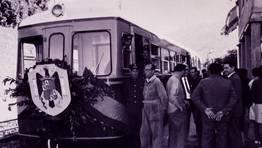 Inauguraci�n de un tramo del tren de la costa (ahora FEVE), en los a�os 60 FOT�GRAFO: R. Ard�