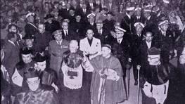 Consagraci�n como concatedral de la iglesia de San Juli�n de Ferrol, en la d�cada de los 60, presidida por el obispo de la di�cesis de Mondo�edo Jacinto Argaya Goicoechea FOT�GRAFO: R. Ard�