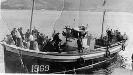 """""""Todos los Santos"""", uno de los pesqueros que naufrag� en la galerna de 1961, Celeiro, Viveiro. FOT�GRAFO: CEDIDA POR SUSO FERN�NDEZ"""