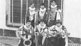 Rondalla Mugardesa en el a�o 1968. En la imagen, Bacheli, Ramiro, Ferreol, Manolo, Cestillas y Vieutas FOT�GRAFO: Ju�n Jos� Rodriguez P�rez