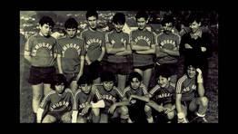 Equipo de f�tbol del colegio Uni�n Mugardesa del 77-78 FOT�GRAFO: Francisco Jos� Bastida Mart�nez