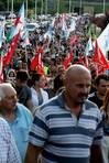 Hubo representación de Asturias también en la manifestación por el futuro de Alcoa, que tiene una de sus fábricas en Avilés FOTÓGRAFO: PEPA LOSADA