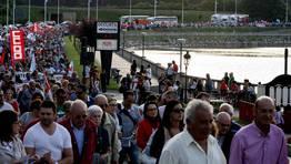La marcha comenzó en la zona de Lodeiro y discurrió por la variante viveirense FOTÓGRAFO: PEPA LOSADA