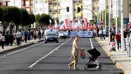 La manifestación tuvo su salida en la zona de Lodeiro, frente al centro de salud de Viveiro FOTÓGRAFO: PEPA LOSADA