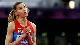 Anna Chicherova, de Rusia, durante la final de salto de altura. FOT�GRAFO: PHIL NOBLE | Reuters