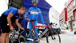 Gustavo C�sar Veloso, ciclista gallego del Andaluc�a. FOT�GRAFO: MONICA IRAGO