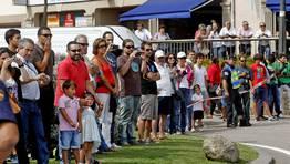 Gran expectaci�n en la primera de las etapas gallegas de la Vuelta. FOT�GRAFO: RAMON LEIRO