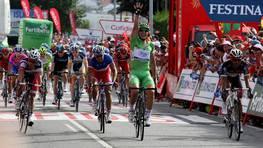 Degenkolb celebra su victoria en Sanxenxo. FOT�GRAFO: M�nica Irago