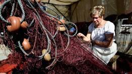 Detalle del trabajo de las rederas en el medievo FOT�GRAFO: CAPOTILLO
