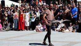 La exhibición de cetrería concentró cientos de personas FOTÓGRAFO: CAPOTILLO