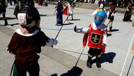 Los niños practicaron esgrima FOTÓGRAFO: CAPOTILLO