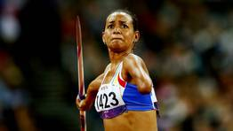 La venezolana Mariel Bethancourt, en lanzamiento de jabalina. FOTÓGRAFO: KERIM OKTEN | EFE