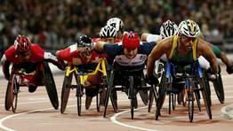 Imagen de una de las series de los 5000m T54 masculinos. FOTÓGRAFO: OLIVIA HARRIS | Reuters