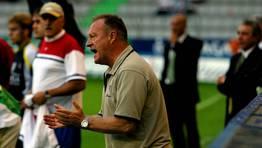 Luis �ngel Duque, entrenador del Compostela durante el 2002-2003, que logr� el ascenso a Segunda. FOT�GRAFO: CESAR TOIMIL
