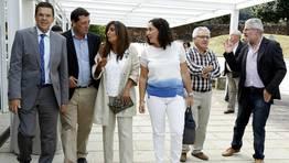 Aurelio N��ez, Jose Manuel Traba, Marga Varela, Bel�n Docampo, Jos� Lado y Ram�n Saleta FOT�GRAFO: JOSE MANUEL CASAL