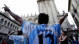 Celebraci�n en Prater�as del ascensso a Segunda  B en el 2009. FOT�GRAFO: �lvaro Ballesteros