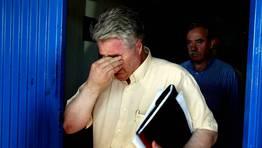 El expresidente Juan Silva lloraa el descenso del 2003 por impagos. FOT�GRAFO: SANDRA ALONSO