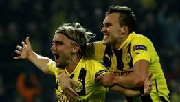 Schmelzer fue el autor del segundo gol alem�n tras aprovechar un bal�n muerto en la frontal del �rea. FOT�GRAFO: INA FASSBENDER | REUTERS